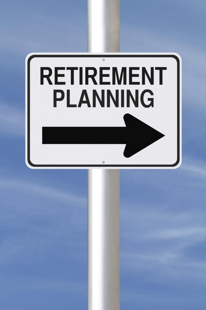 A sign that says retirement planning along with an arrow pointing to a particular direction