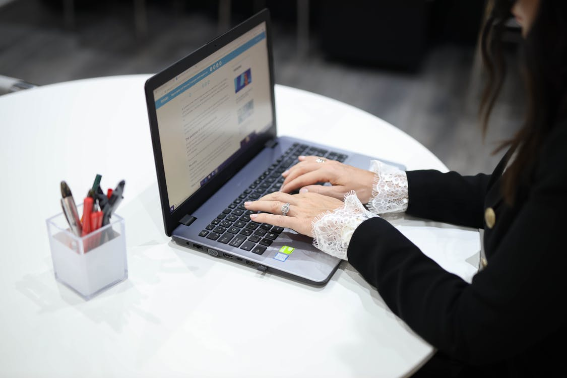 An executive working on a bridge loan application.