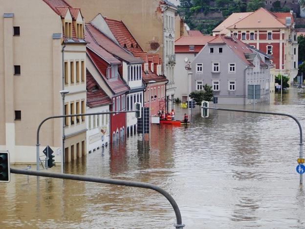 Floods entering inside buildings