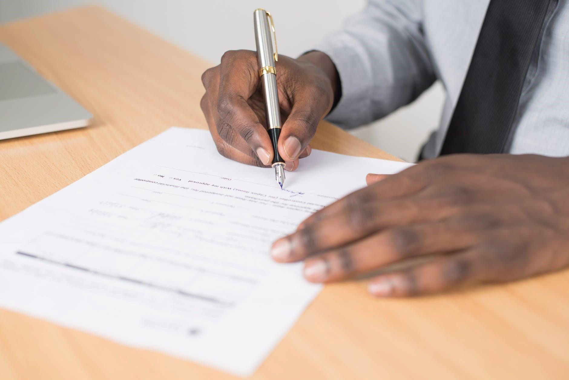 Person filing broker mortgage application.